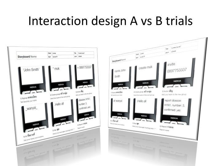 Interaction design A