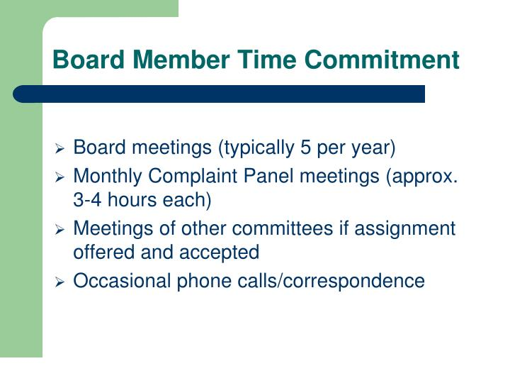Board Member Time Commitment