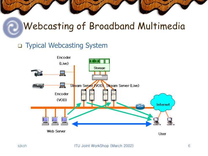 Webcasting of Broadband Multimedia