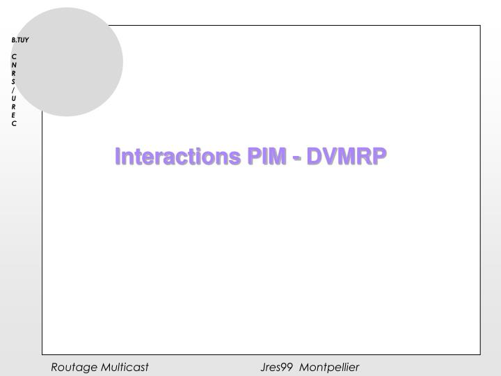 Interactions PIM - DVMRP