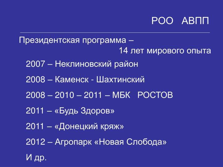 14 лет мирового опыта