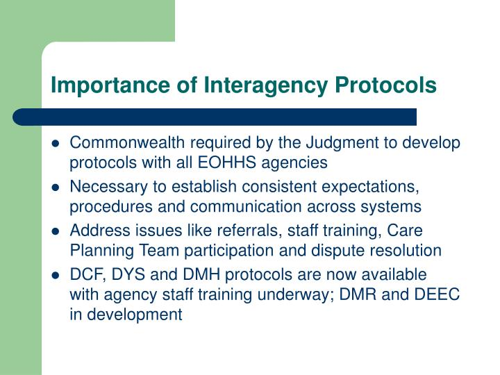 Importance of Interagency Protocols