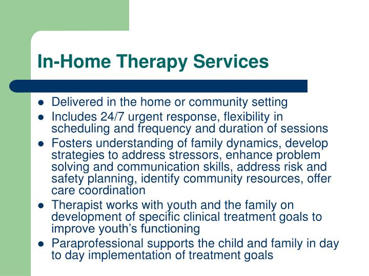 In-Home Therapy Services