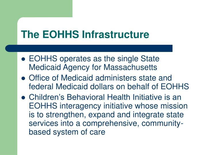 The EOHHS Infrastructure