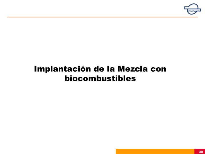 Implantación de la Mezcla con biocombustibles