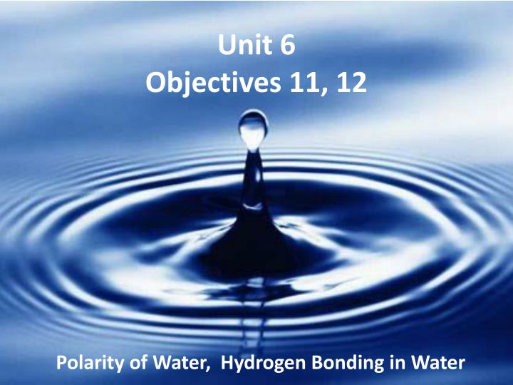 unit 6 objectives 11 12 n.