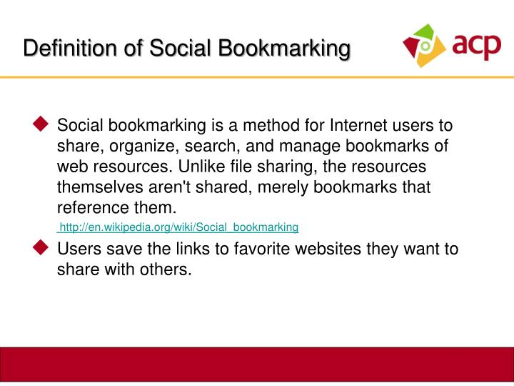 Definition of Social Bookmarking