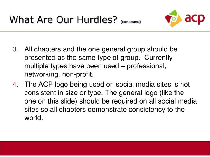 What Are Our Hurdles?