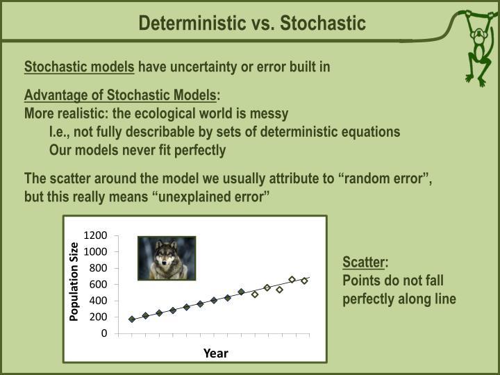 Deterministic vs. Stochastic