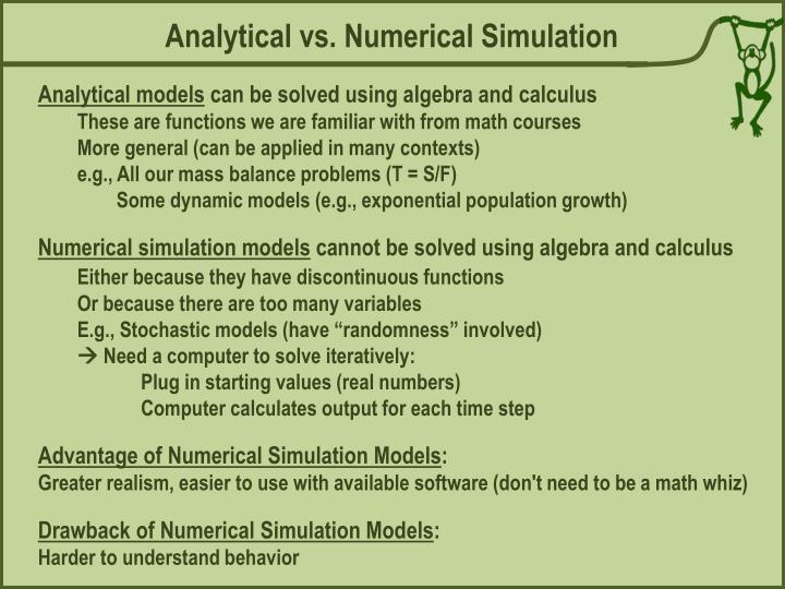 Analytical vs. Numerical Simulation