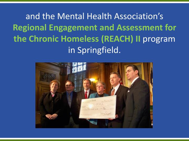 and the Mental Health Association's