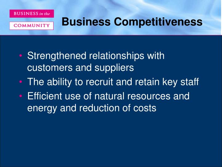 Business Competitiveness