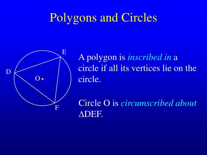 Polygons and circles