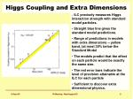 higgs coupling and extra dimensions