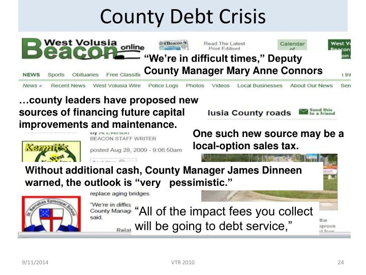 County Debt Crisis