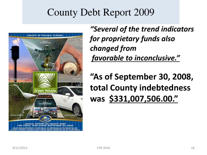 County Debt Report 2009