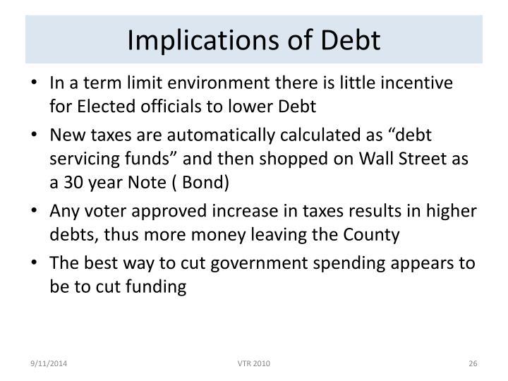 Implications of Debt