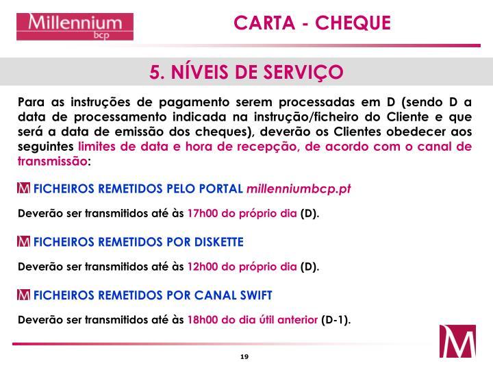 5. NÍVEIS DE SERVIÇO