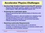 accelerator physics challenges