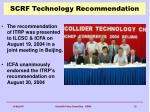 scrf technology recommendation