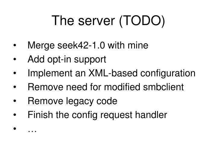 The server (TODO)
