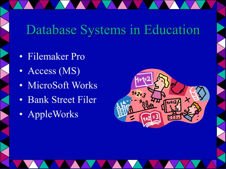 Database Systems in Education