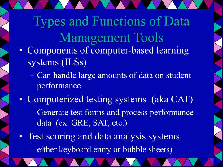 Types and Functions of Data Management Tools