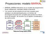 proyecciones modelo markal