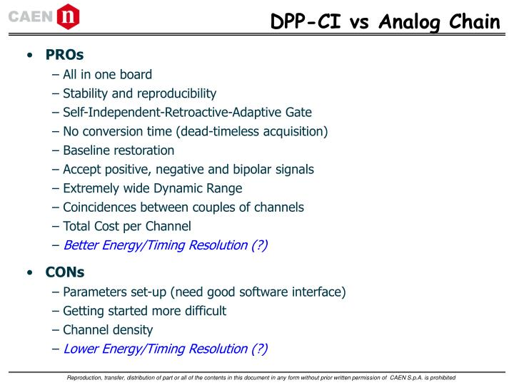 DPP-CI vs Analog Chain