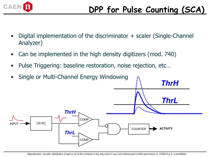 DPP for Pulse Counting (SCA)