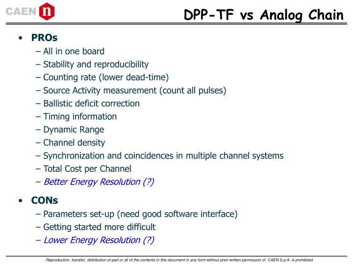 DPP-TF vs Analog Chain