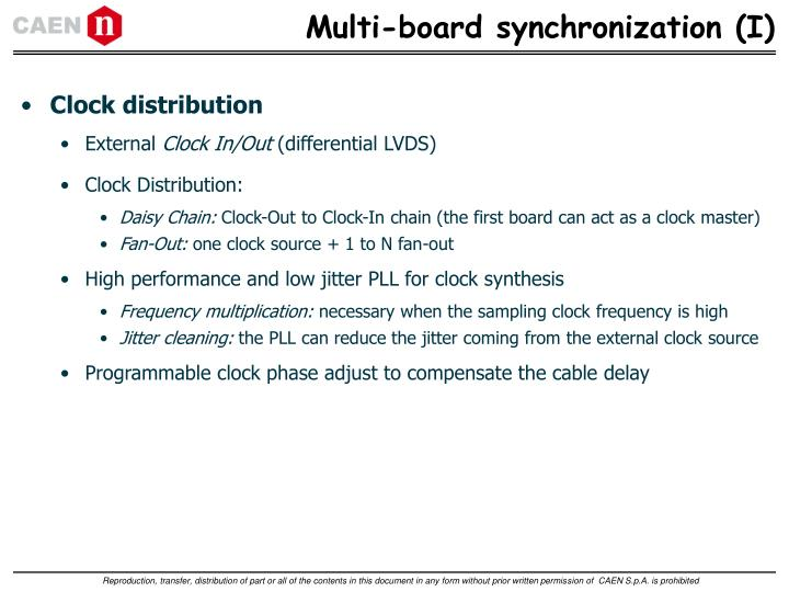 Multi-board synchronization (I)