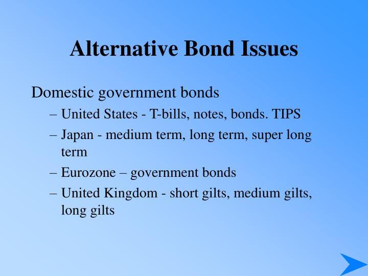 Alternative Bond Issues