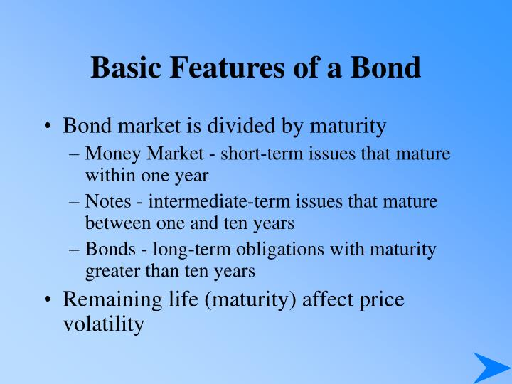 Basic features of a bond1