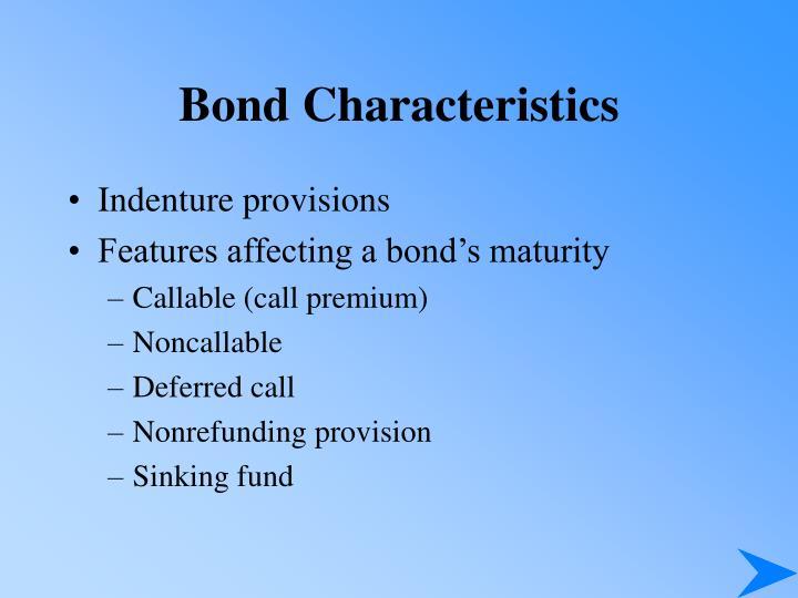 Bond Characteristics