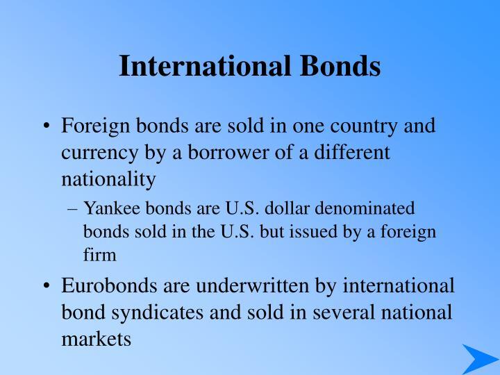 International Bonds