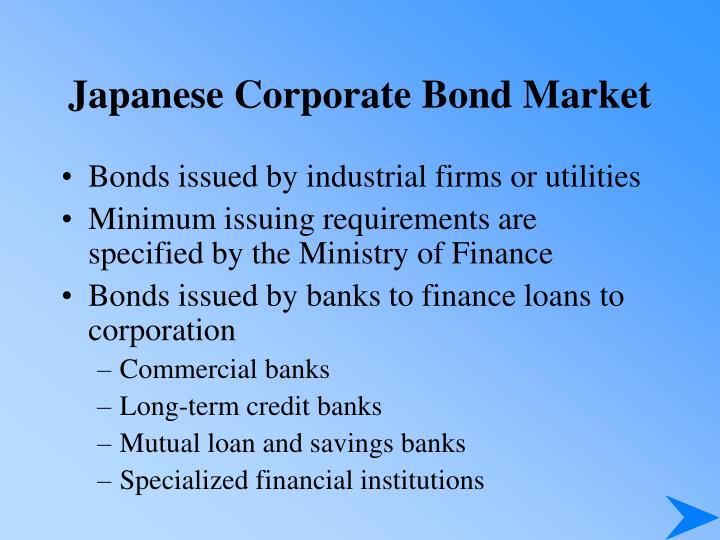 Japanese Corporate Bond Market