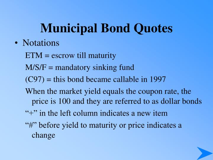 Municipal Bond Quotes