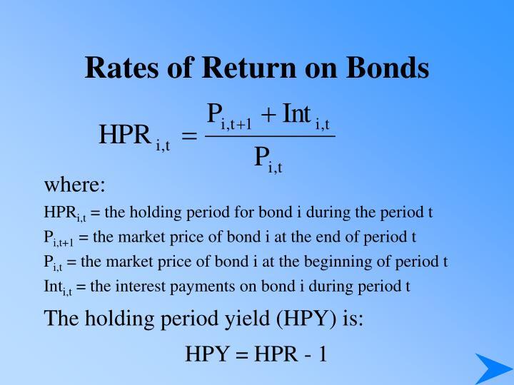 Rates of Return on Bonds