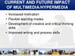 current and future impact of multimedia hypermedia