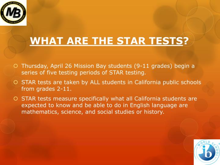 What are the star tests