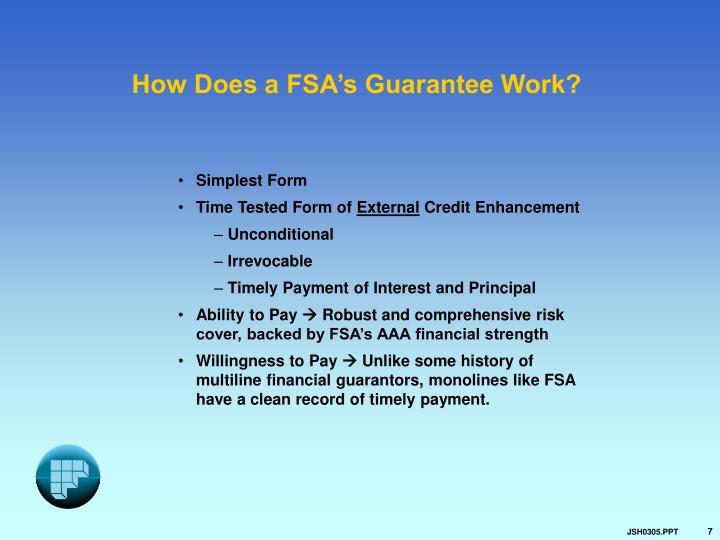 How Does a FSA's Guarantee Work?