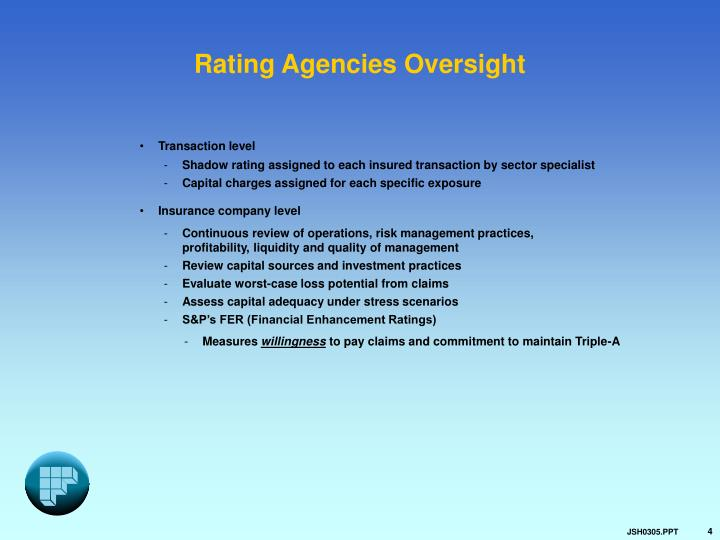 Rating Agencies Oversight
