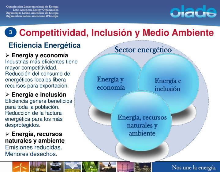 Competitividad, Inclusión y Medio Ambiente