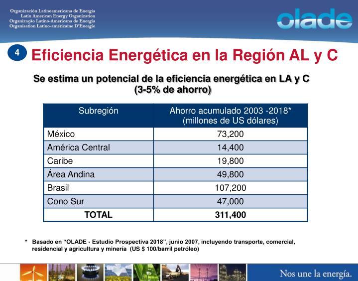 Eficiencia Energética en la Región AL y C