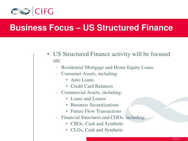 Business Focus – US Structured Finance