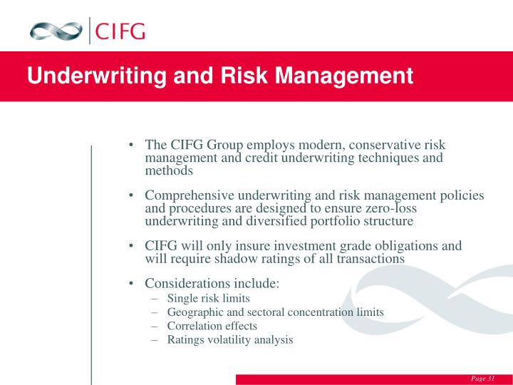 Underwriting and Risk Management