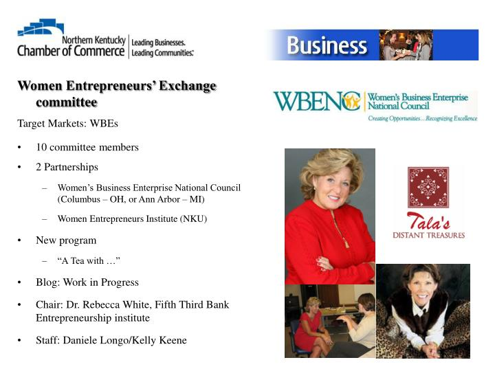 Women Entrepreneurs' Exchange committee