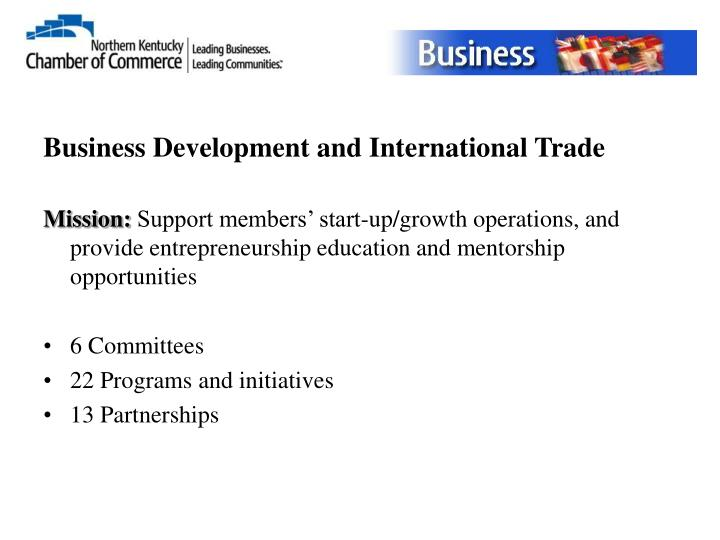 Business Development and International Trade