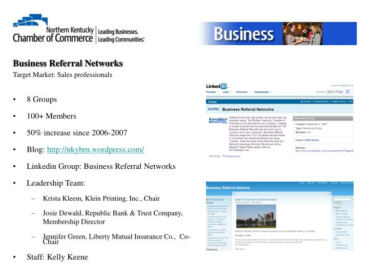 Business Referral Networks